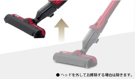 ● ヘッドを外してお掃除する場合は除きます。