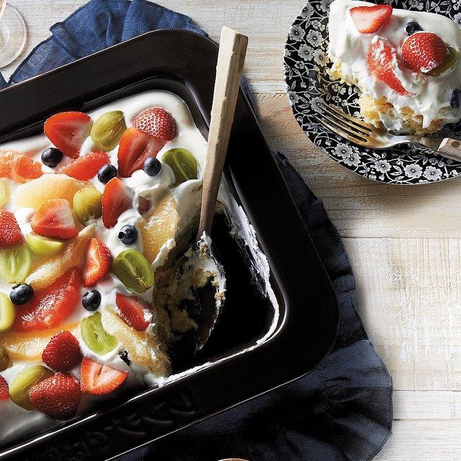 フルーツたっぷりスコップショートケーキ